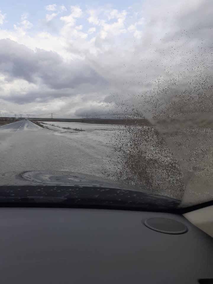 Circulaţia este blocată pe drumul Tulcea - Constanţa