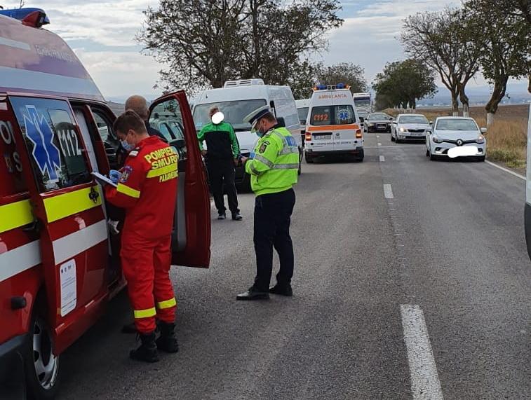 Accident în lanț pe E 87, aproape de Cataloi
