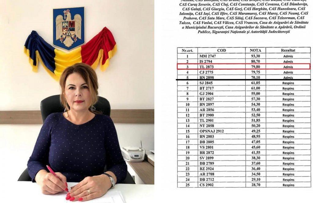 Eugenia Vasile - şefa CAS Tulcea, locul 3 pe ţară la proba scrisă! Urmează interviul