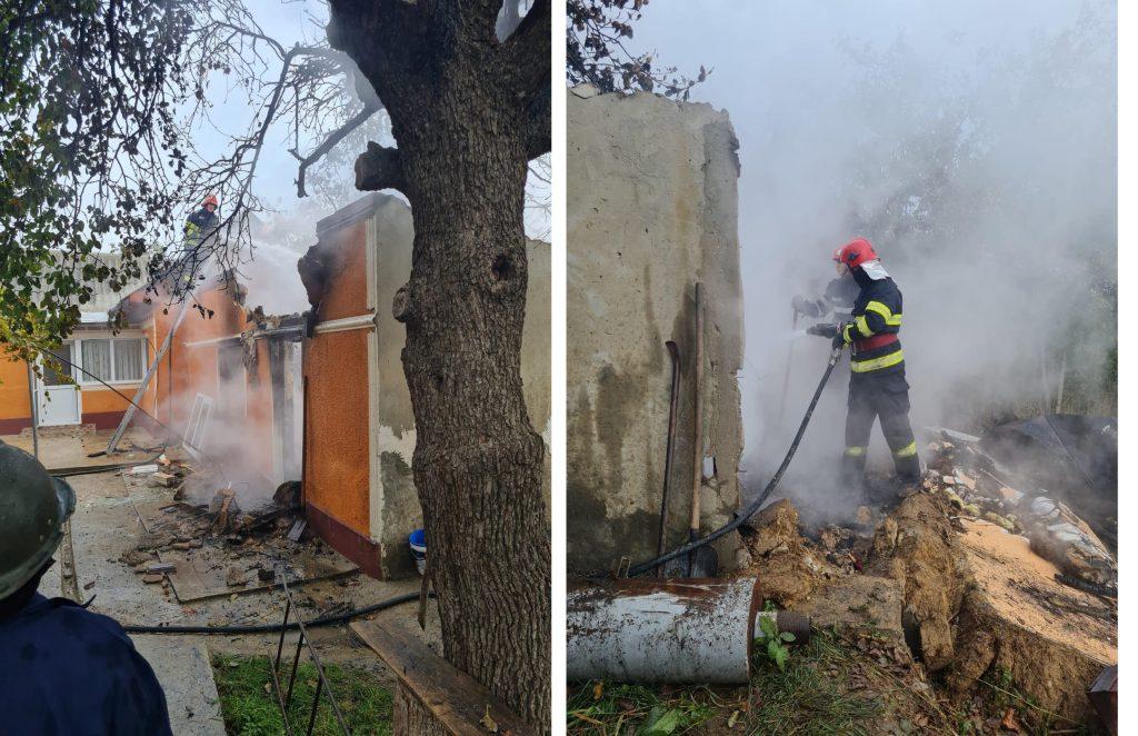 Un bătrân a murit ars de viu într-un incendiu la Niculițel