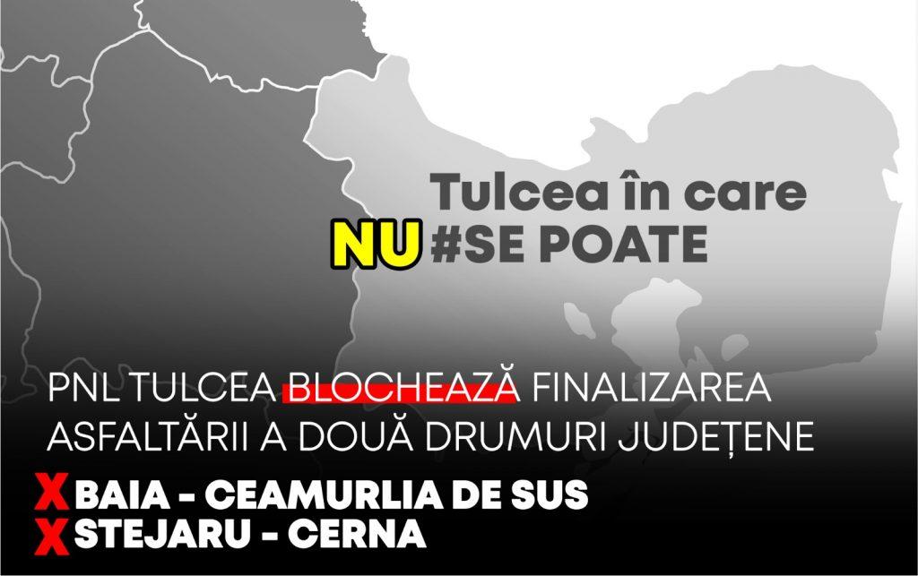 PNL Tulcea blochează finalizarea asfaltării a două drumuri județene